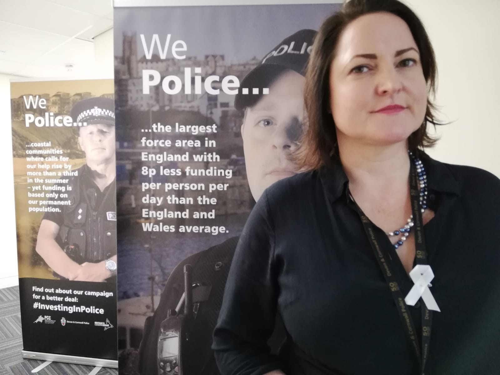 White ribbon marks the start of domestic abuse campaign