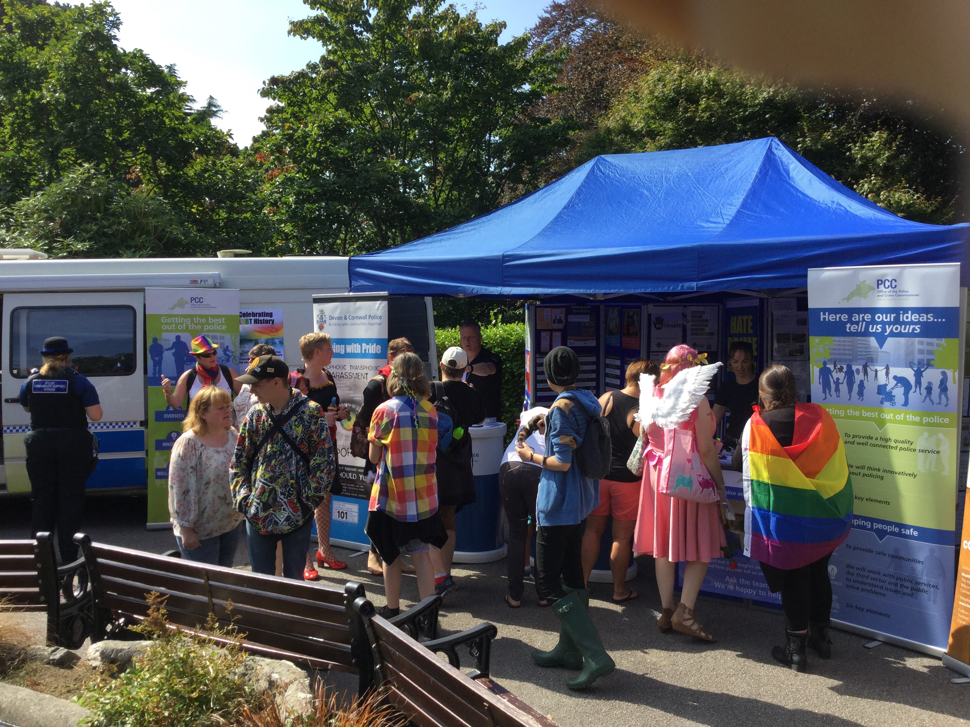 Tony Hogg takes part in Exeter Pride 2015