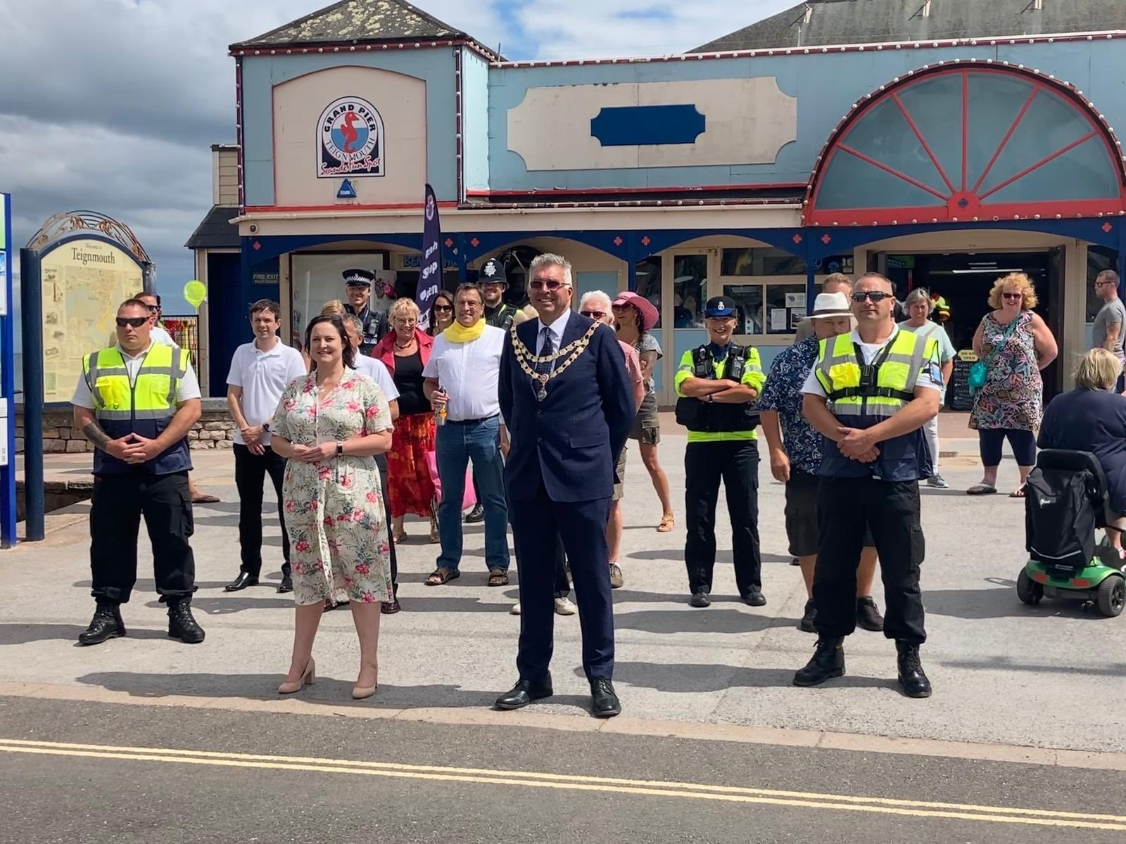 Commissioner visits Teignmouth and Newton Abbot to launch Safer Summer Scheme