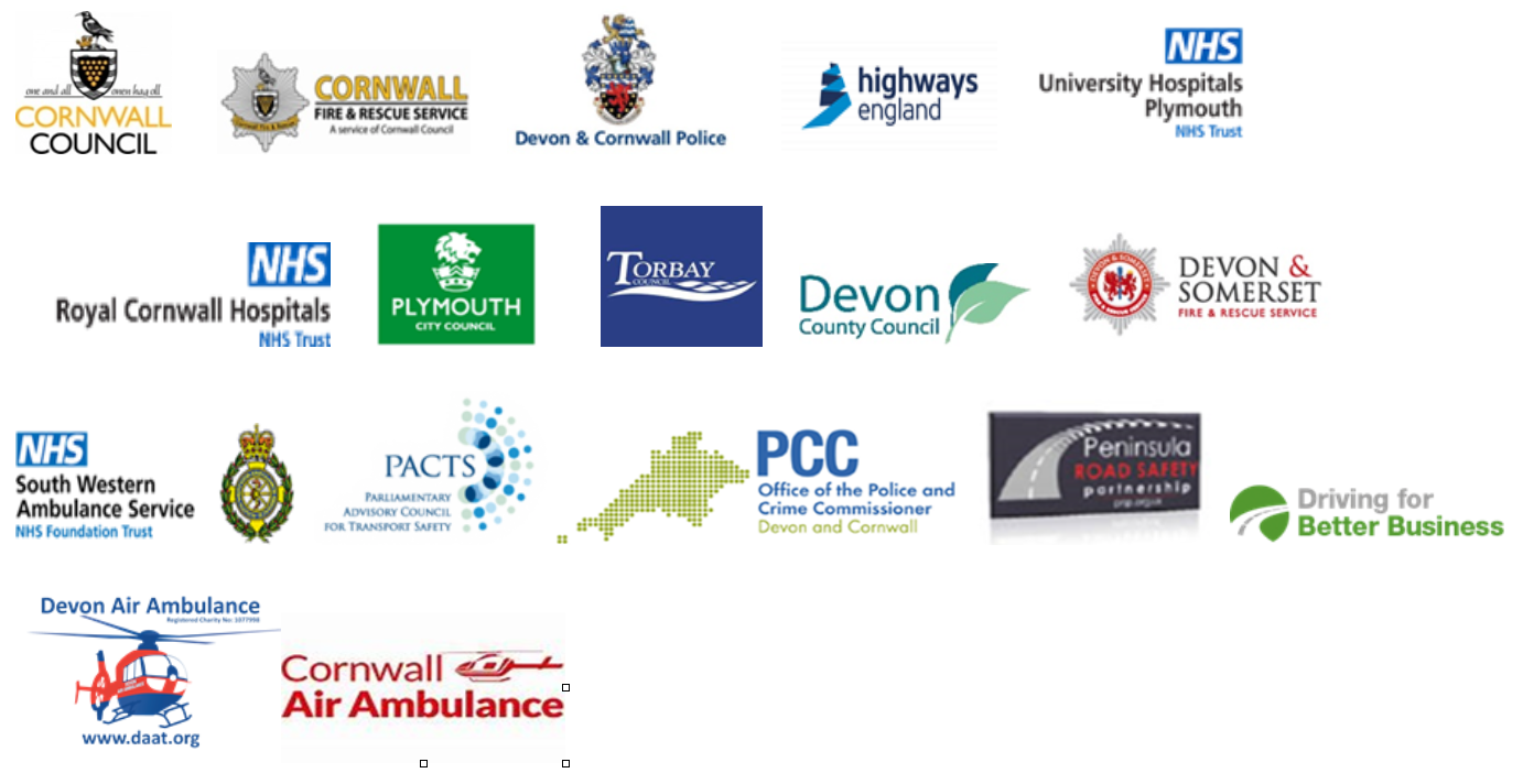 The organisations involved in the partnership are shown here